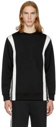 Neil Barrett Black and Off-White Side Snaps Sweatshirt