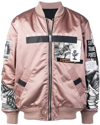 Diesel patch embellished bomber jacket