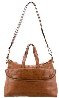Fendi Leather Zip It Satchel Brown Leather Zip It Satchel