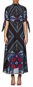 Warm Women's Nomad Floral Cotton-Silk Maxi Dress - Navy