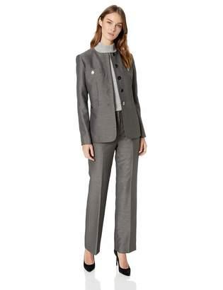 Le Suit LeSuit Women's 5 Button Jewel Neck Novelty Pant Suit