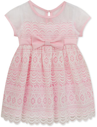 Rare Editions Floral-Lace Illusion Dress, Baby Girls (0-24 months) $70 thestylecure.com
