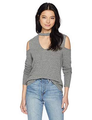 Pam & Gela Women's Long Sleeve Choker Tee