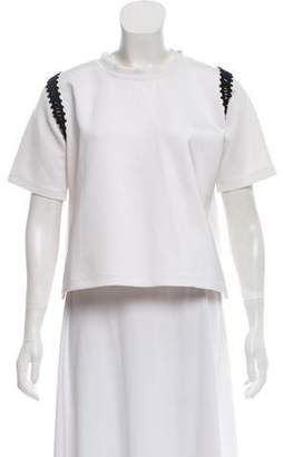 Rachel Comey Crochet-Assented Short Sleeve Top