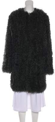 Yves Salomon Meteo x Knit Lamb Coat