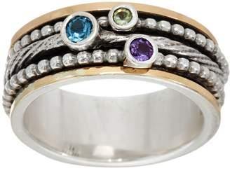 Or Paz Sterling Silver & 14K Gold Multi-Gemstone Spinner Ring