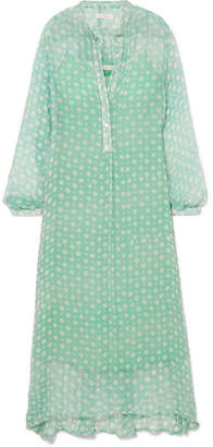 Cloe Cassandro - Andrea Printed Silk-crepon Tunic - Light green