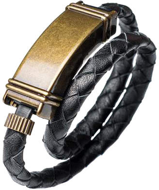 """Kyte&Key Leather iPhone Charging Cable Wrap Bracelet """"Twins"""""""