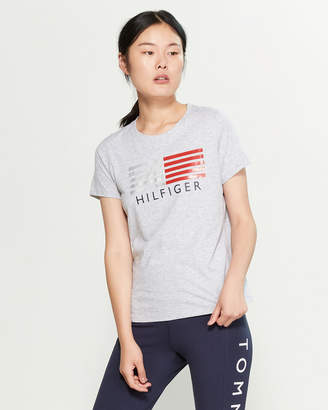 Tommy Hilfiger Crew Neck Short Sleeve Flare Tee