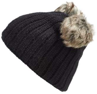 Nirvanna Designs 'Double Pom' Knit Beanie