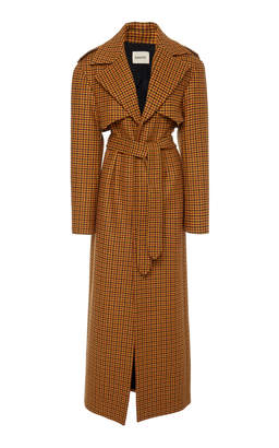KHAITE Blythe Wool Trench Coat