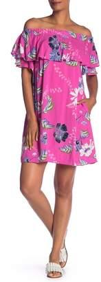 Rachel Roy Floral Off-the-Shoulder Mini Dress