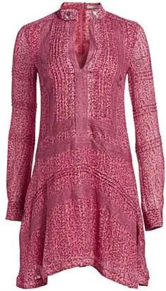 Derek Lam 10 Crosby Floral Embroidered Peasant Dress
