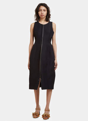 Marni Sleeveless Zip Front Dress in Black