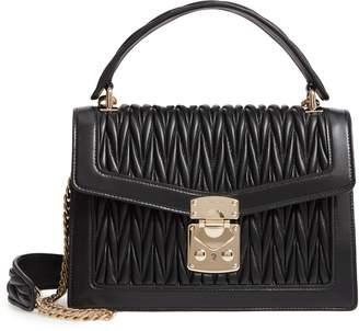 Miu Miu Confidential Matelasse Quilted Lambskin Leather Top Handle Bag