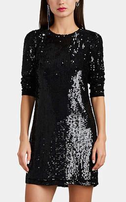 Barneys New York Women's Sequined Tulle Minidress - Black