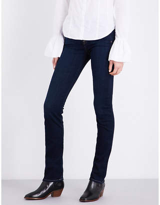 7 For All Mankind Kimmie slim-fit straight-leg stretch-denim jeans