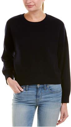 Vince Dropped-Shoulder Cashmere-Blend Crew Sweater