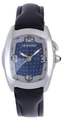 Chronotech Men's CT.7660M/02 Black Calfskin Band watch.