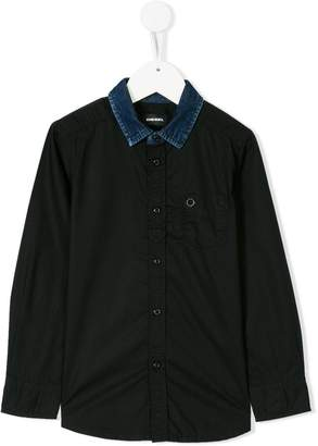 Diesel denim collar shirt
