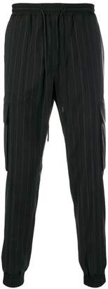 Juun.J pinstriped cargo trousers