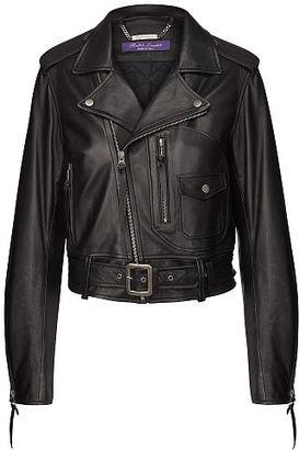 Ralph Lauren Cayden Lambskin Moto Jacket $3,750 thestylecure.com