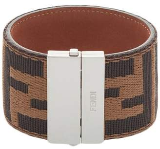Fendi FF logo cuff bracelet