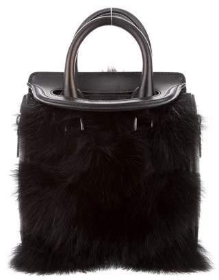 Alexander McQueen Fur-Trimmed Mini Heroine Bag