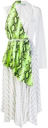 Off-White contrast wrap dress