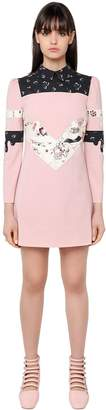 Face Patchwork Wool Toile Dress