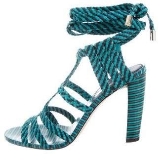 Jimmy Choo Trix Woven Sandals w/ Tags