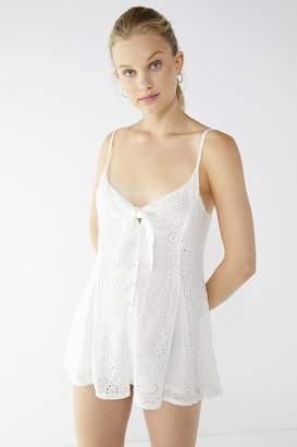 Urban Outfitters Nova Eyelet Tie-Front Romper