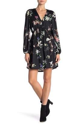 Hale Bob V-Neck Floral Long Sleeve Dress