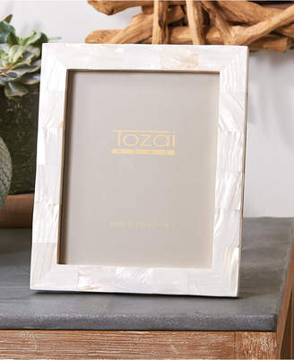 Twos Company Pearly White Photo Frame in Gift Box