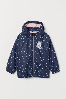 H&M Lined Rain Jacket - Blue