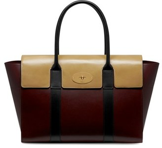 Mulberry 'New Bayswater Crossboarded' Leather Satchel $1,995 thestylecure.com