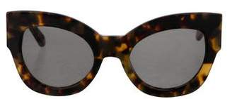 Karen Walker Round Tinted Sunglasses