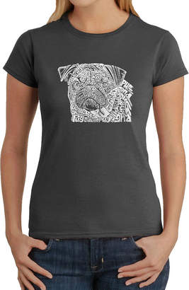 LOS ANGELES POP ART Los Angeles Pop Art Pug Face Graphic T-Shirt