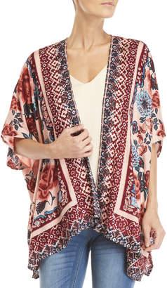 Angie Printed Short Kimono