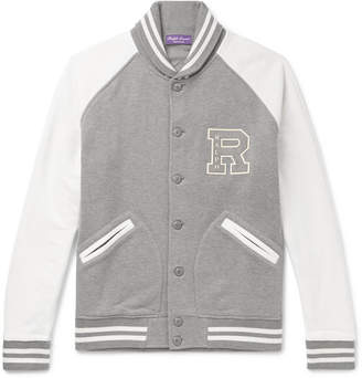 Ralph Lauren Purple Label Logo-Appliquéd Cotton-Blend Jersey Bomber Jacket