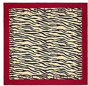 Gucci Women's Zebra Print Silk Bordered Scarf