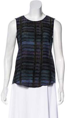 Theyskens' Theory Silk Printed Sleeveless Top