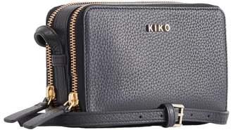 Kiko Leather Zip Around Pebble Leather Crossbody Bag