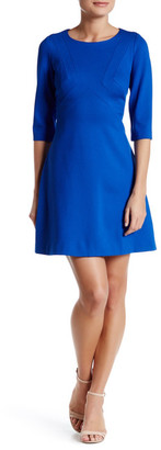 Adrianna Papell 3/4 Length Sleeve Ponte A-Line Dress (Petite) $130 thestylecure.com