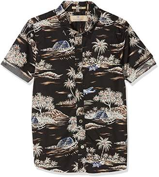 Scotch & Soda Shrunk Boy's All-Over Printed Short Sleeve Shirt Blouse