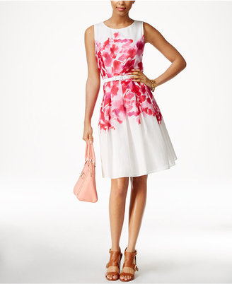 Tommy Hilfiger Printed A-Line Dress $129 thestylecure.com