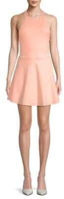Backless Halter Fit-&-Flare Dress