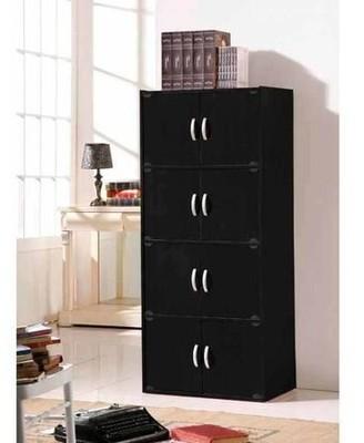 Hodedah 4-Shelf, 8-Door Multipurpose Cabinet, Multiple Colors