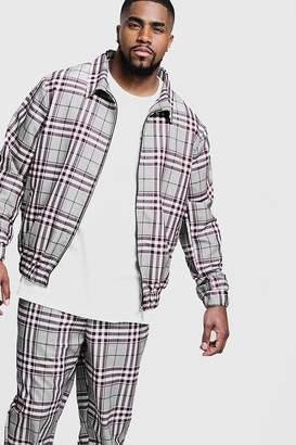 boohoo Big & Tall Check Smart Coach Jacket