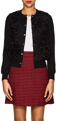 Comme des Garcons Women's Ruffle Wool & Organza Cardigan - Black
